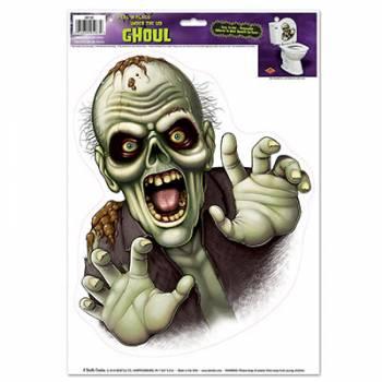 Autocollant cuvette toilette zombie ghoul