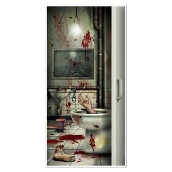Décor de porte crime salle de bain