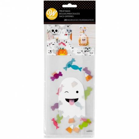 Donnez une touche finale amusante à votre fête d'Halloween grâce à ces sachets à confiserie Emoji fantôme. Ces sachets sont parfaits...