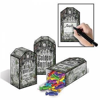 3 boîtes à bonbons pierre tombale