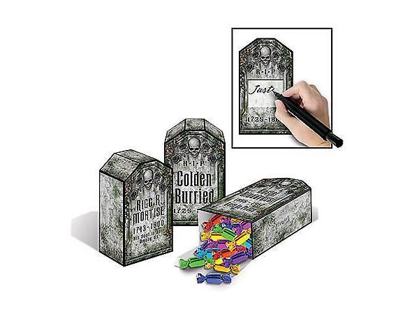 boîtes à bonbons pierre tombale