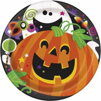 8 Assiettes dessert Petits monstres Halloween