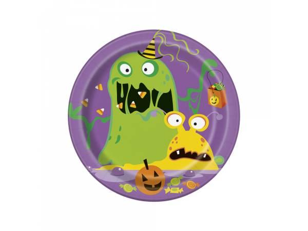 Deco table Halloween- Assiettes dessert monstres rigolos
