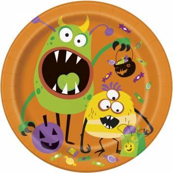 8 Assiettes monstres rigolos