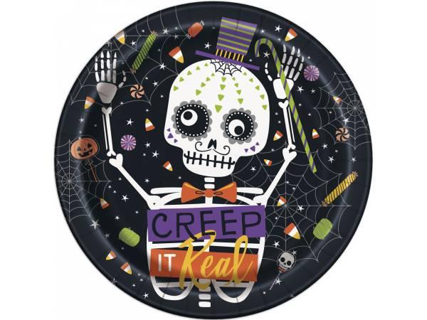 Deco table Halloween- Assiettes trick or treat squelette
