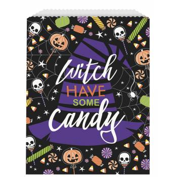 8 sachets papier trick or treat squelette