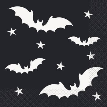 20 Serviettes Halloween bats