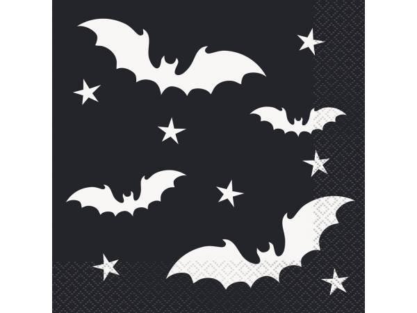 Serviettes Halloween bats