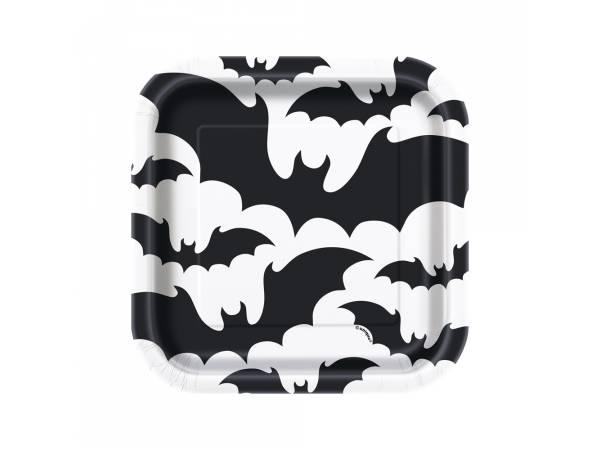 Assiettes dessert Halloween bats