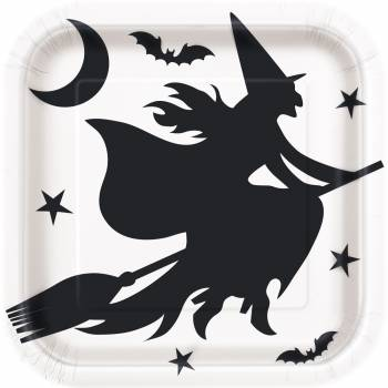 8 Assiettes Halloween bats