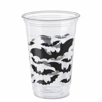 8 gros gobelets Halloween bats