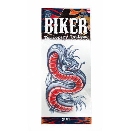 tattoos éphémères Biker serpent