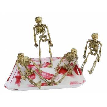 Barquette 4 Mini squelettes