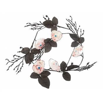Guirlande de fleurs blanches globes occulaires