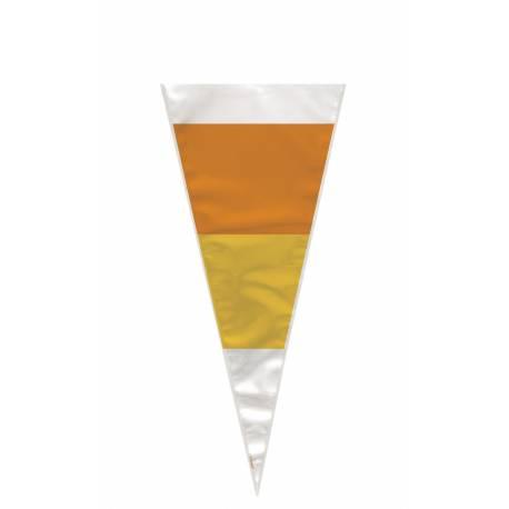 20 Sachets à confiseries en forme de cône aux couleurs d'Halloween
