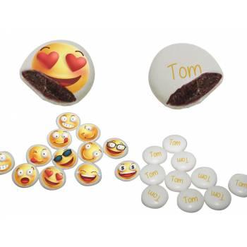 Palets choc' personnalisés décor Smiley & Emoji