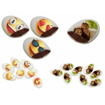 110 Dragées chocolat à personnaliser décor Smiley & Emoji photo