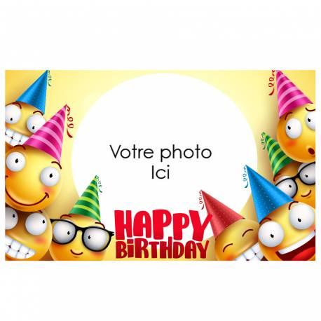 Feuille de sucre imprimée pour décorer vos grands gâteaux d'anniversaires.Taille A3 USA ( 25.8 cm x 41.2 cm)Peut être conservé 6...