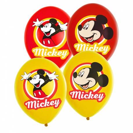 6 Ballons latexMickey original pour une belle décoration d'anniversaire Dimensions : Ø27.5cm