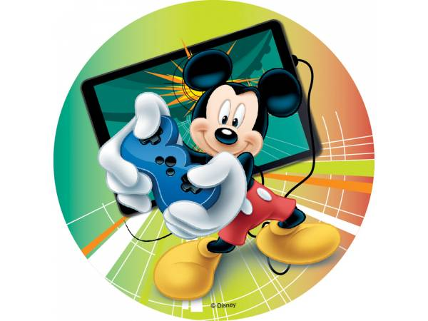 Photo comestible Mickey sans sucre