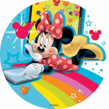 Disque comestible Minnie sans sucre