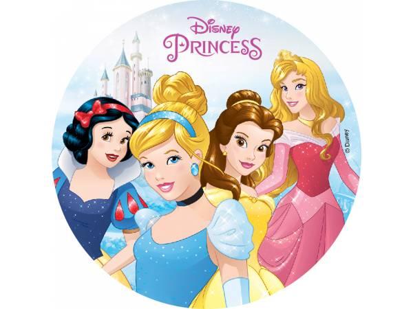 Disque comestible sans sucre Princesses Disney - Deco de gâteau