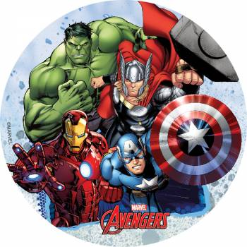 Photo comestible Avengers sans sucre