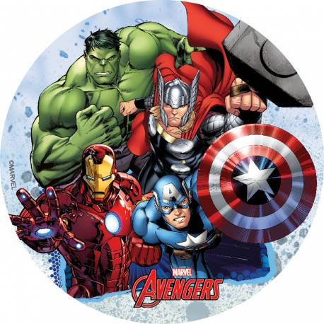 Disque comestible Avengers spécialement conçu pour réaliser un magnifique gateau sur le thème de Avengers en 1 clin d'oeil ! Il suffit...