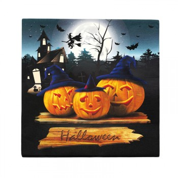 20 Serviettes en papier pumkin halloween