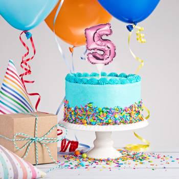 Cake topper ballon rose N°5
