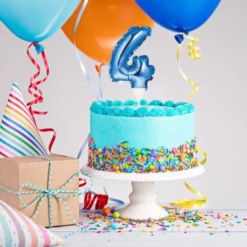 Cake topper ballon bleu N°4