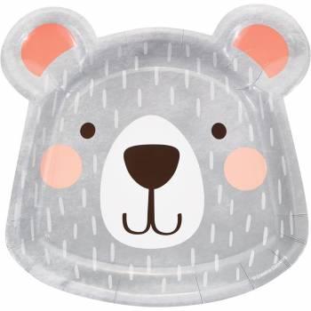 8 Assiettes tête ourson