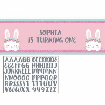 Bannière avec stickers Bunny Party