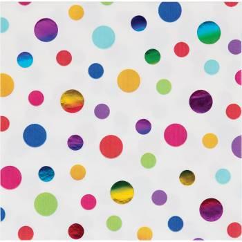 16 Serviettes Rainbow foil