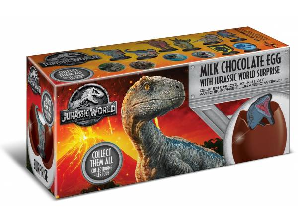 3 oeufs surprise chocolat Jurassic World