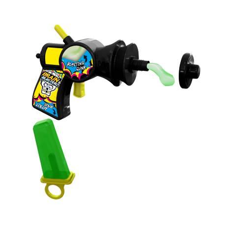 Vos enfants vont adorer ces pistolets Brain Blasterz, le manche du pistolet cache une sucette à la pomme, et il tire du gel à la...