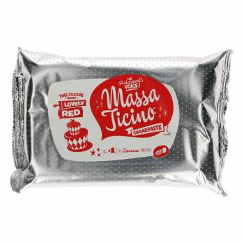 Pâte à sucre Massa Ticino Rouge Amour 1Kg