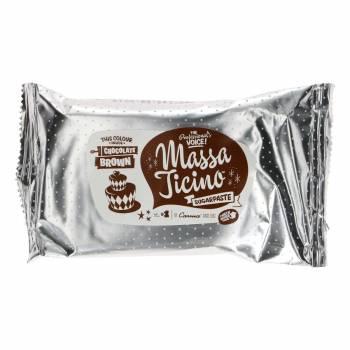 Pâte à sucre Massa Ticino Marron chocolat 250g