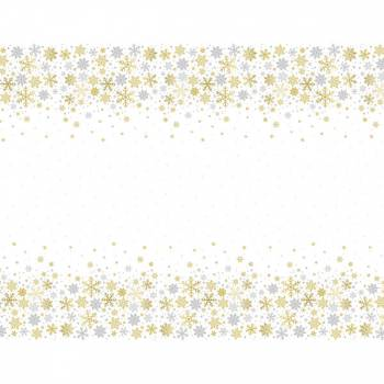 Nappe plastique Flocons d'or