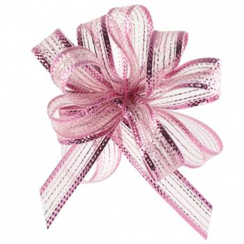 Bobine rubans automatiques irisés rose