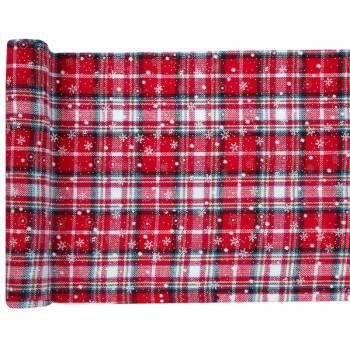 Chemin de table Flocons écossais