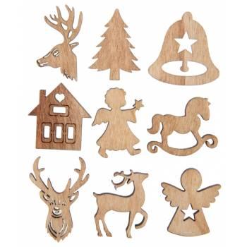 18 Décors de Noël en bois