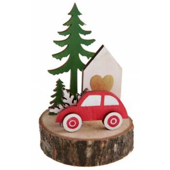 Décor virée en forêt de Noël