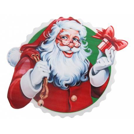 Décor de table Père Noël en bois, idéal pour une belle décoration de table de Noël moderne mais traditionnelle Dimensions : 17cm x 14cm