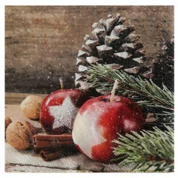 20 serviettes décors de Noël