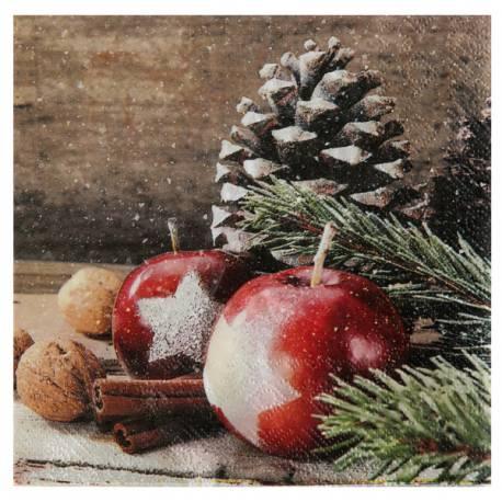 20 serviettes en papier décors de Noël, idéal pour une belle décoration de table de Noël traditionnelle Dimensions : fermé 16.5 x 16.5...