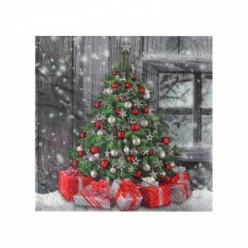 20 serviettes sapins de Noël