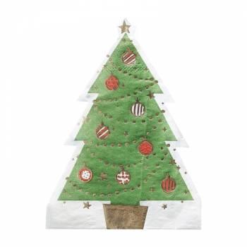 12 serviettes sapin de Noël
