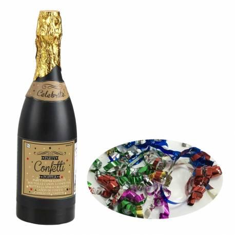 Canon à confettis en forme de bouteilles de champagne pour fêter la nouvelle année