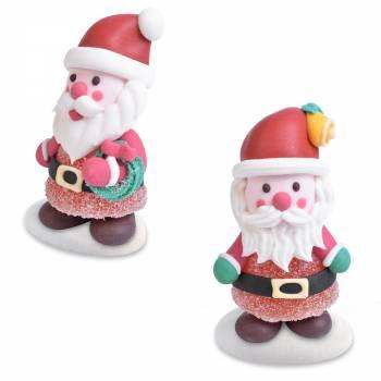 2 Père Noël gélifiées aux fruits